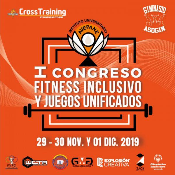 Flyer-Primer-Congreso-Fitness-inclusivo-y-Juegos-Unificados-Avepane-2019-La-Trinidad-Caracas-Venezuela-e1573614668783